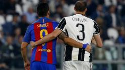Chiellini reveals he admires Luis Suarez for 2014 World Cup bite during Italy v Uruguay clash