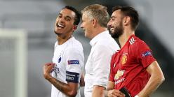 Video: Man Utd boss Solskjaer praised by Copenhagen captain Zeca in candid clip as embarrassed Fernandes is seen laughing