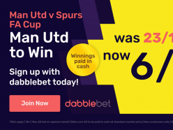 dabblebet offer: Get 6/1 on Man Utd to beat Spurs - paid in cash