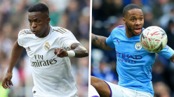 Real Madrid star Vinicius takes Sterling inspiration as he aims to emulate Man City attacker