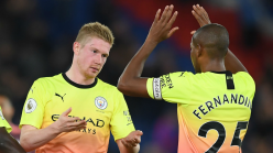 Fernandinho salutes 'superb' Ederson for saving Man City from nervous night at Crystal Palace