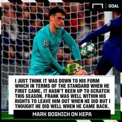Chelsea should stick with Kepa says Bosnich