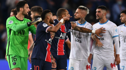 Mass brawl sees five sent off in Marseille win over PSG