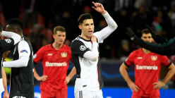 Ronaldo grabbed on the neck by pitch invader after Juventus win against Bayer Leverkusen