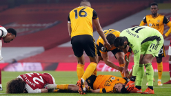 Wolves confirm Jimenez suffered fractured skull in clash of heads with David Luiz after Mexico striker undergoes operation