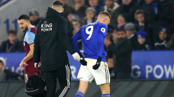 Blow for Leicester as Vardy leaves West Ham match with injury